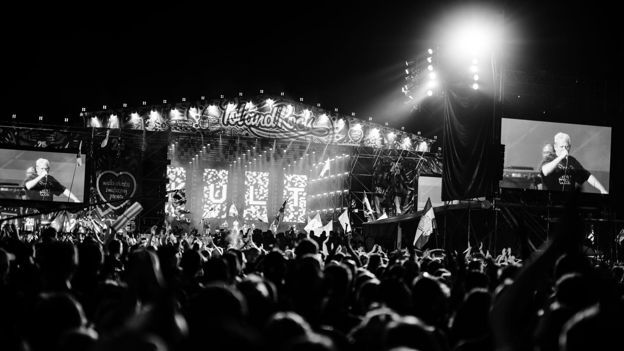 Zdjęcie koncertu zespołu Kult, zrobione podczas PolandRock 2019.